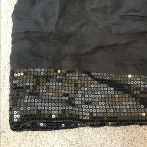 Charcoal Sequin Scarf